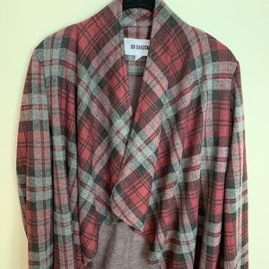 BB Dakota Draped Cardigan in soft flannel